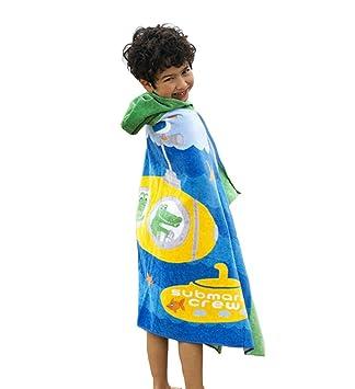 stfly Kids algodón Toallas de playa toalla de baño toalla de playa Poncho con capucha, diseño de niño para niñas/niños: Amazon.es: Hogar