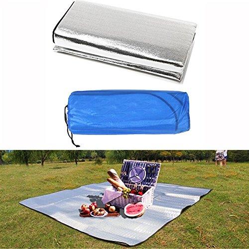 Foil Face Blanket (VIPASNAM-Outdoor Camping Picnic Sleeping Mattress Pad Waterproof Aluminum Foil EVA Mat)
