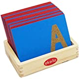 Skola Toys Sandpaper Letters Tracing Lower Case Small Alphabets (Multicolour) - Set of 26