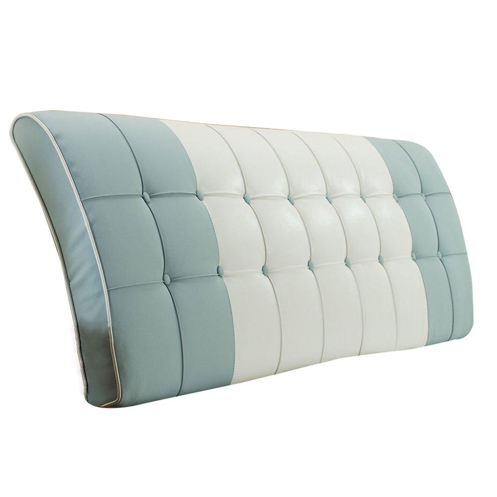 ヘッドボード 190x63cm) 快適、 ベッドサイド ベッド ソファー (色 大 柔らかい さいず ベッドの背もたれ クッション サイズ 7色、 B07F3Y71FG マルチサイズ バックレスト 190x63cm|ブルーグレー パッド HAIPENG 190x63cm : カバー 腰椎 : ブルーグレー, ブルーグレー 布張り クッション