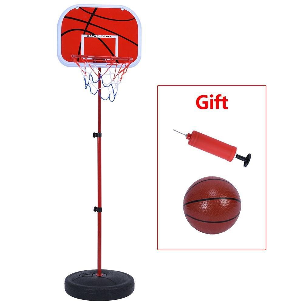 バスケットボールシステム、高さ調節可能Backboard withボールとポンプ22.8 – 53.8インチ B078MP4ZCP