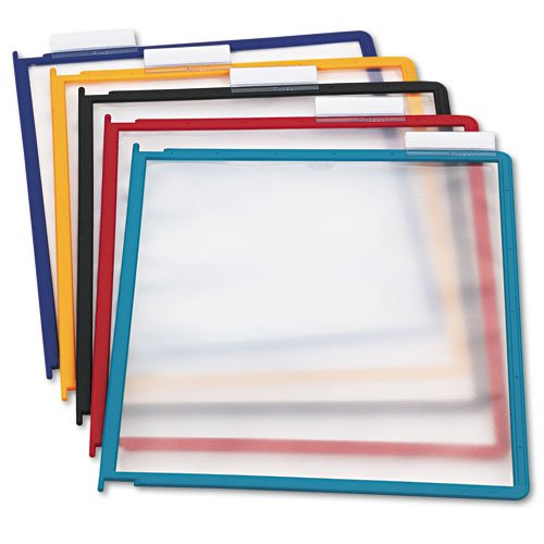 (Durable Products - Durable - InstaView Desk Reference System Replacement Panels, Letter, Assorted, 5/Set - Sold As 1 Set - Practical and affordable. - Heavy-duty borders. - Convenient snap-on)