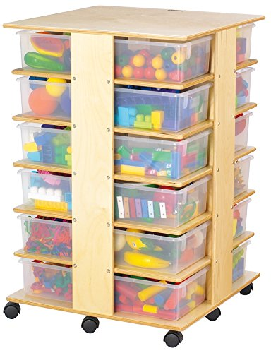 Jonti-Craft 03640JC 24 Tub Tower with Clear (Jonti Craft Cubbie Tray)