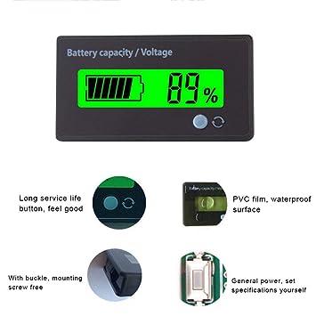 tomation Monitor De Capacidad De Batería Medidor De Voltaje ...