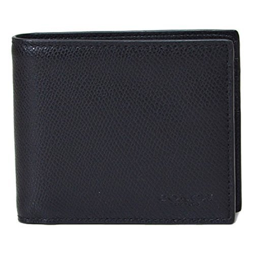 COACH COMPACT ID CROSSGRAIN LEATHER WALLET, F74974