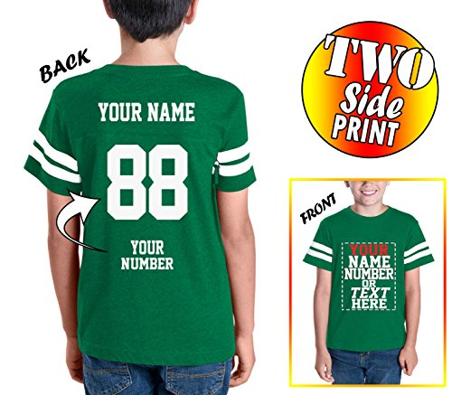 Football T-shirt Designs - Custom Cotton Jerseys for Youth and Teens - Make Your OWN Jersey T Shirts - Personalized Team Uniforms for Casual Outfit