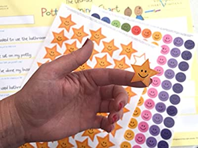 Potty training sticker chart (from 2yrs) - Ultimate potty training reward chart for toddlers and young children about to start toilet training