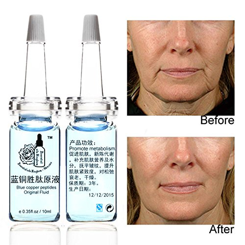 Anti Wrinkle Fluid - Plant Gift -Blue Copper PeptidesOriginal Fluid,Anti-wrinkle tightening repair elastic, activate the skin's own function, instantly reproduce the delicate texture.-10ml2 0.35oz