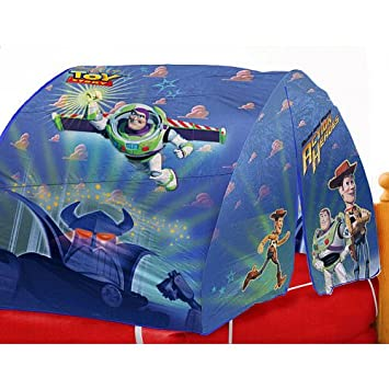 Disney Toy Story Bed Tent with Pushlight  sc 1 st  Amazon.com & Amazon.com: Disney Toy Story Bed Tent with Pushlight: Toys u0026 Games