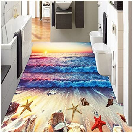 ZaH Thin 3D Ear Rug Non-Slip Doormat Carpet Printing Rug for Living Room, Bedroom, Kitchen, Bathroom 5 x7 , Sunset