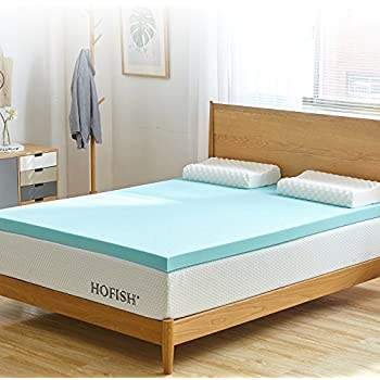Amazon Com Zinus 2 Inch Gel Memory Foam Mattress Topper