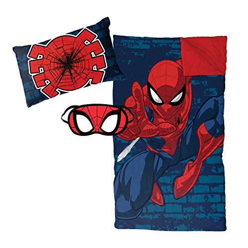 Jay Franco Marvel Spiderman Zaap 3 Piece Plush Sleepover Set ()