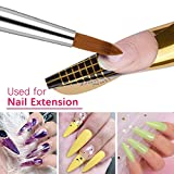 Morovan Acrylic Nail Brush 1PCS Pure Kolinsky Sable Hair Round Oval Professional Nail Art Painting Brush With Special Liquid Glitter Handle for Manicure Pedicure Application