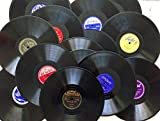 15 Real 10 inch 78rpm WWII Big Band Era Gramophone Records Arts & Crafts Decoration Party Artwork