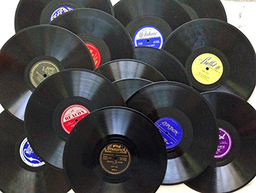 15 Real 10 inch 78rpm WWII Big Band Era Gramophone Records Arts & Crafts Decoration Party (Band Records)