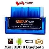 Stanz (TM) Blue Mini ELM327 Supper Mini OBD2 OBD-II Bluetooth Car Auto Diagnostic Interface Scanner Tool