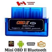 Unilink (TM) Blue Mini ELM327 Supper Mini OBD2 OBD-II Bluetooth Car Auto Diagnostic Interface Scanner Tool