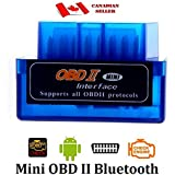 Unilink (TM) Blue Mini ELM327 Supper Mini OBD2 OBD-II Bluetooth Car Auto Diagnostic Interface Scanner Tool