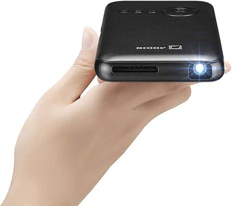 Amazon.com: Mini proyector portátil inteligente Aodin (con ...