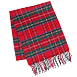 David & Young Soft Plaid Winter Scarf, Red and Green