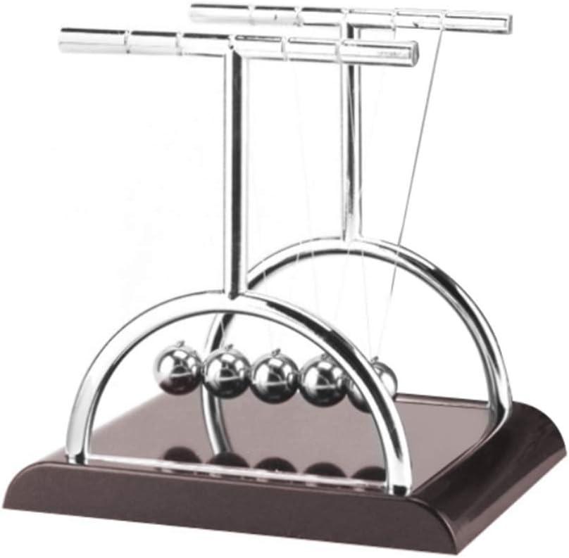 farfi T Shaped Balance Ball Swinging Balls Physics Science Pendulum Balls Fun Toy for Desk Gadgets Office Desk Decorations L