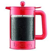 Bodum K11683-137 Bean Set Ice Coffee Maker, 12 Cup/51 oz, Red/Orange