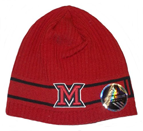 (adidas Miami Redhawks Coaches Uncuffed Knit Hat)