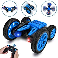 Rainbrace Remote Control Car RC Stunt Car Toys for 6-12 Years Old Boys Gift, 2.4Ghz 360°Flips Double Sided Rotating Tumbling Race Car Vehicles High Speed 4WD RC Truck Off Road RC Car Kids Toy Cars