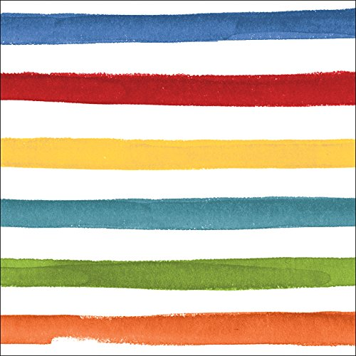 Creative Converting 24 Count Premium Patterned Beverage Napkins, Dotted and Striped, Multicolor