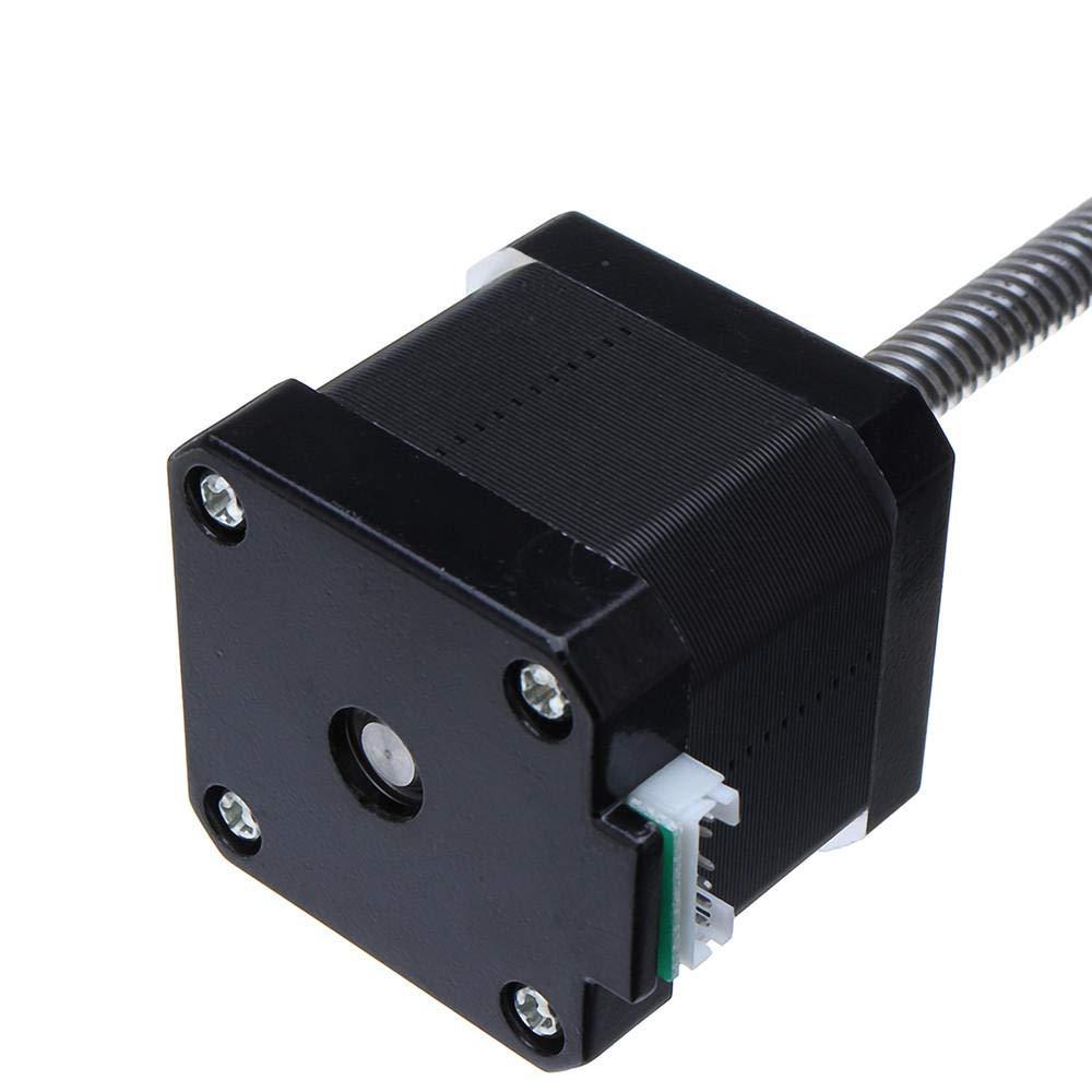 1 Vis /à plomb T8 x 8 Nema 17 pour moteur pas /à pas lin/éaire 40 mm 1,7 A 40 N.cm 4 fils 42 moteur 100-500 mm Vis trap/ézo/ïdale pour imprimante 3D Axis Z 100mm