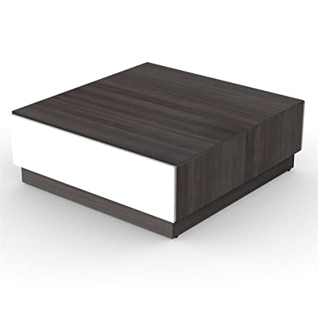 Attractive Nexera 220733 Allure Coffee Table, Ebony And White