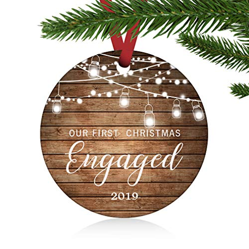 ZUNON First Christmas Engaged Ornaments 2019 Our First Christmas New Home Married Wedding Decoration 3