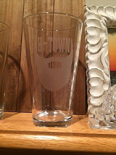 Houston Glass - H-Town - 16oz Pub Glass - Harden- The - Houston Glasses