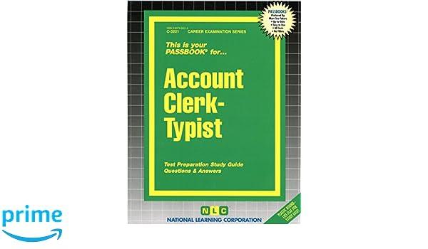 account clerk typist passbooks jack rudman 9780837332215 amazon rh amazon com Nce Exam Study Guide account clerk exam study guide california