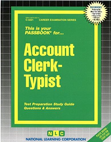 Account Clerk-Typist(Passbooks)