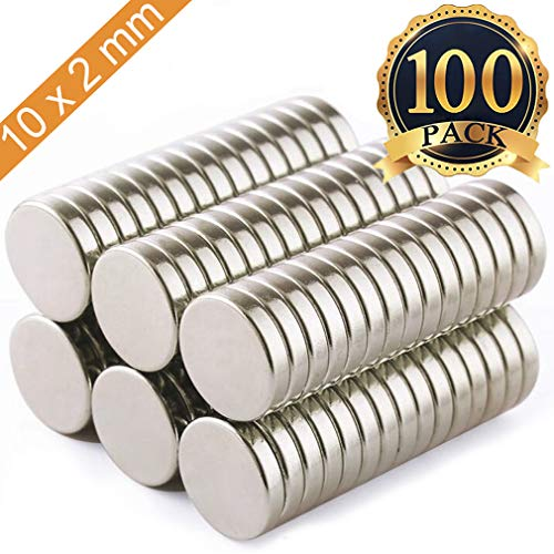 FINDMAG 100Pieces 10X2mm Premium Brushed Nickel Pawn Style Magnetic Push Pins,Fridge Magnets, Office Magnets, Dry Erase Board Magnetic pins, Whiteboard Magnets,Refrigerator Magnets ()