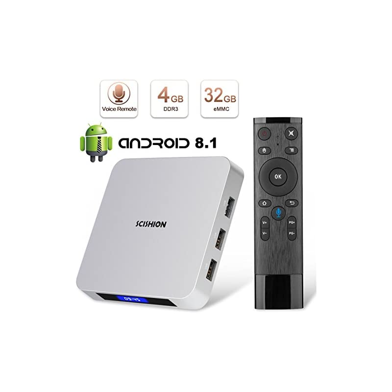 Android 8.1 TV Box, HAOSIHD AI ONE Smart