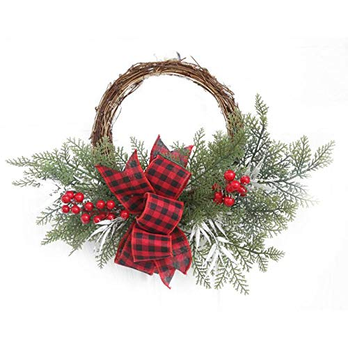 Gold Hook - Pinecone Wreath Christmas Wedding Decoration Home Decor Berry Apple Autumn Harvest Gold Handcraft - Artificial Flowers Dried Artificial Dried Flowers Gold Christmas Handcraft Rope Flo