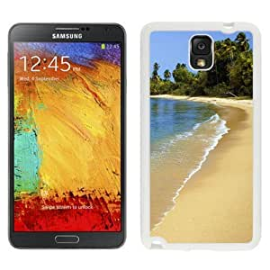 NEW Unique Custom Designed Samsung Galaxy Note 3 N900A N900V N900P N900T Phone Case With Puerto Rico Beach Sand Palm Trees_White Phone Case