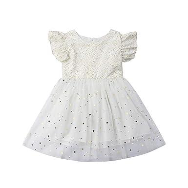 e62f533a82 Amazon.com: Toddle Baby Girl Princess White Tutu Dress Kids Flutter ...