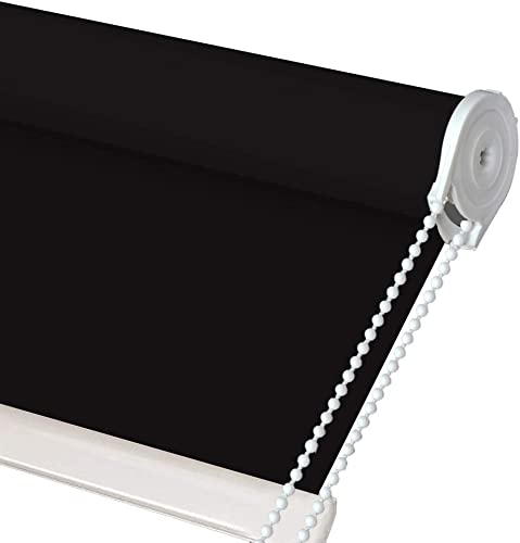 LETAU Black Blackout Window Shades, Made to Order, Please Send Us Your Order Number, Window Width, Window Length, Inside or Outside Mount by Email Through Amazon