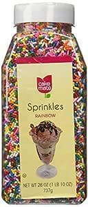 Cake Mate Sprinkles Rainbow 26 Oz