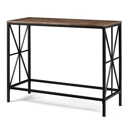Aingoo Tavolino a consolle in Stile Industriale Tavolino da Ingresso in  Metallo X-Design per Il Salotto 100 * 38 * 80.5 CM