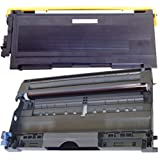 (1 Drum + 1 Toner) Inktoneram® Replacement toner cartridge & drum for Brother TN350 DR350 Toner Cartridges & Drum replacement for Brother DR-350 TN-350 Set DCP-7020 IntelliFax 2820 2910 2920 MFC-7220 MFC-7225N MFC-7820N MFC-7420 HL-2030 HL-2040 HL-2070N