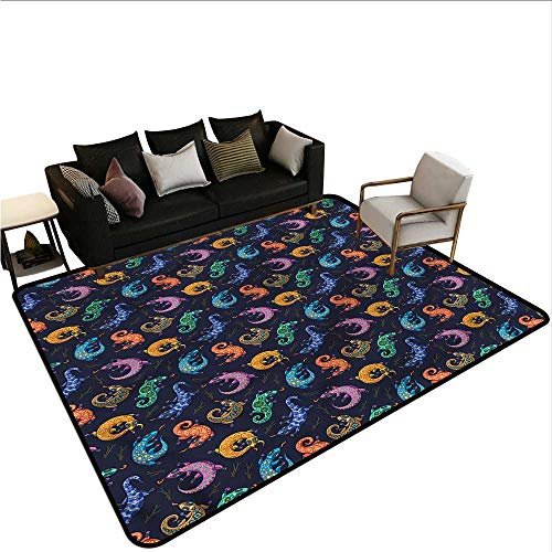 Rug Gecko - Reptile,Large Floor Mats for Living Room 60