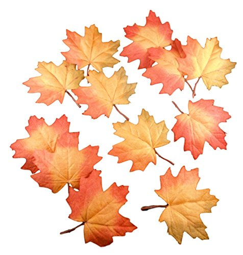(Harvest Craft Leaves - Artificial Floral Decor Foliage Packs (Textured Maple Leaf - 12 Pack))