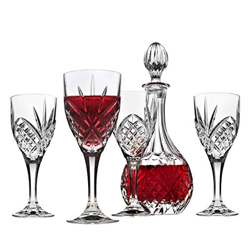 Godinger Dublin Wine Glasses and Decanter Set - 5 Piece ()