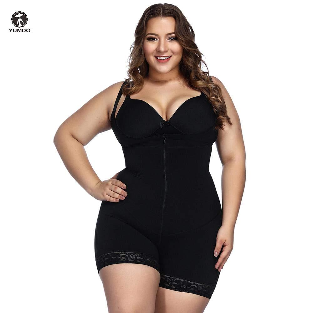 95bb167279b HITSAN INCORPORATION Yumdo New Women Plus Size Body Shaper Open Crotch  Shaperwear Slimming Full Body Suit Control Waist Trainer Butt Lifter Color Black  Size ...