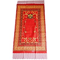 Islamic Portable Prayer Mat Muslim Janamaz Sajadah Namaz Sajjadah Thin - Red