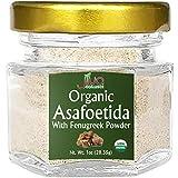Jiva Organics Organic Asafoetida (Hing) Spice 25 Gram - Very Potent & Strong - A Little Goes a Long Way - No Wheat